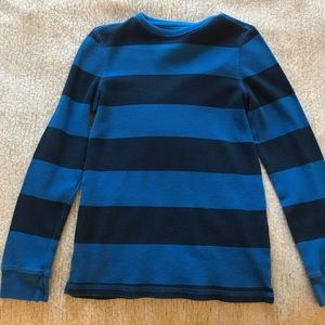 Navy Blue and Blue Striped Shirt